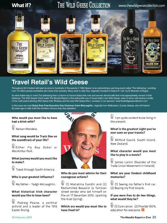 The Moodie Report Issue 70 - The Wild Geese Irish Whiskey 28 February 2013