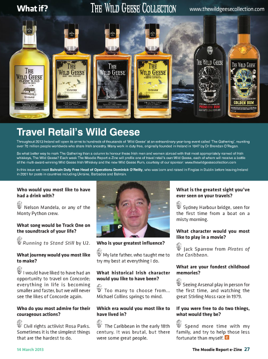 The Moodie Report Issue 71 - The Wild Geese Irish Whiskey 14 March 2013