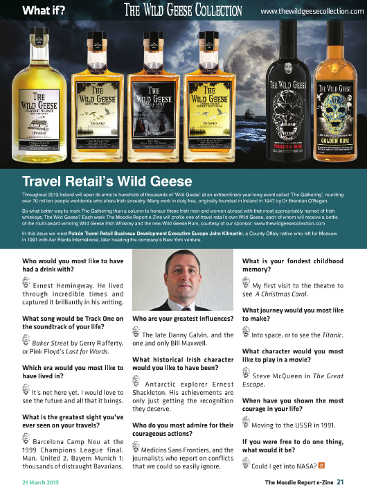 The Moodie Report Issue 72 - The Wild Geese Irish Whiskey 21 March 2013