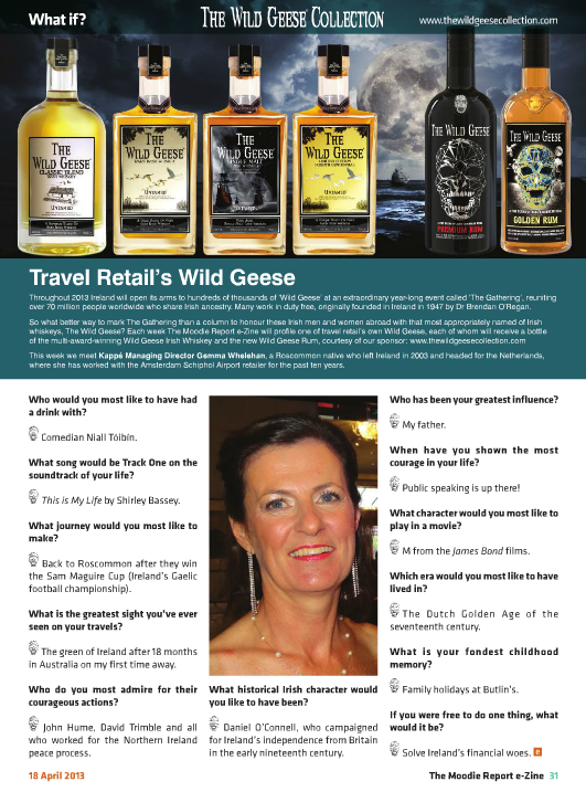 The Moodie Report Issue 75 - The Wild Geese Irish Whiskey 18 April 2013