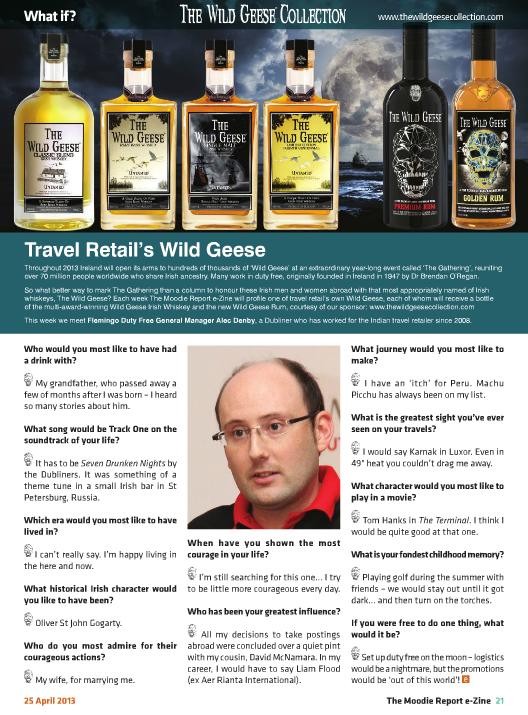 The Moodie Report Issue 76- The Wild Geese Irish Whiskey 25 April 2013