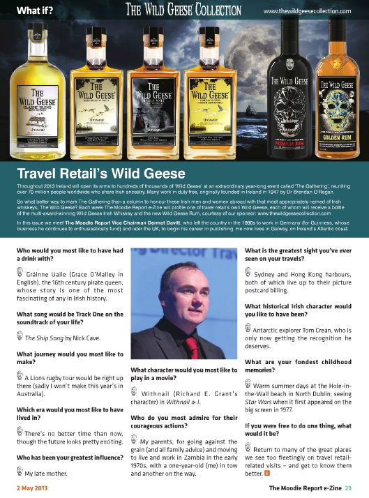 The Moodie Report Issue 77 - The Wild Geese Irish Whiskey 3 May 2013