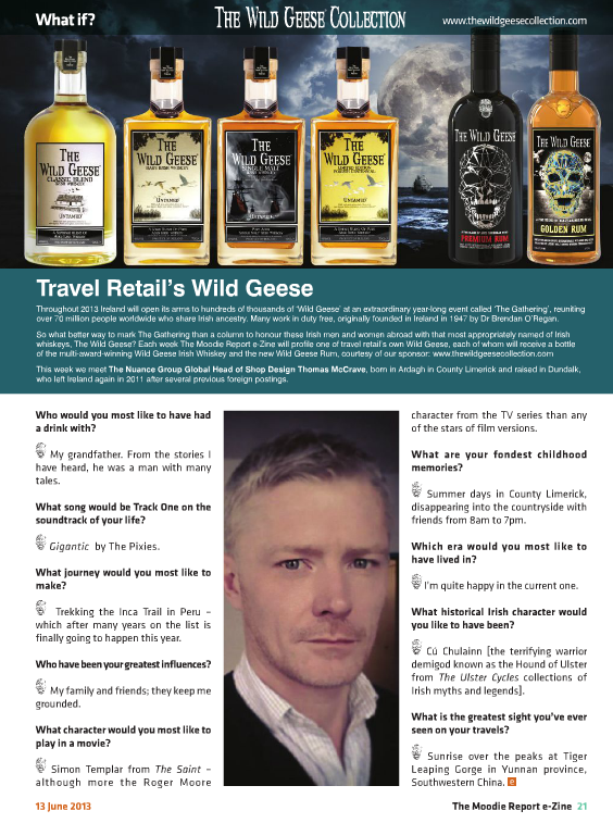 The Moodie Report Issue 82 The Wild Geese Irish Whiskey 13th June 2013