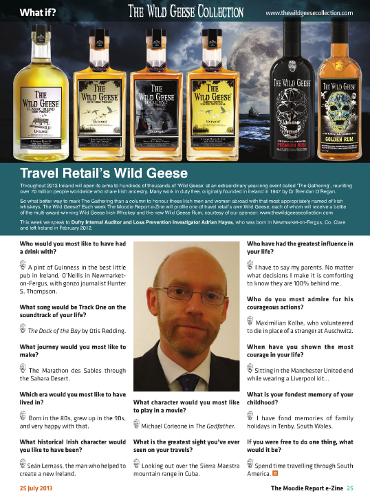 The Moodie Report Issue 88 - The Wild Geese Irish Whiskey - 25 July 2013