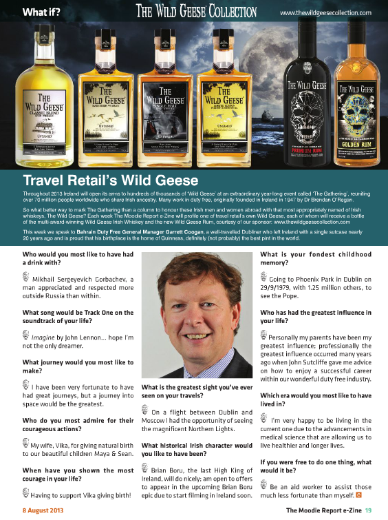 The Moodie Report Issue 89 - The Wild Geese Irish Whiskey - 8 August 2013