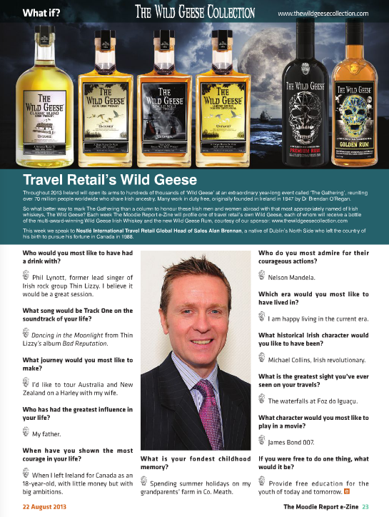 The Moodie Report Issue 90 - The Wild Geese Irish Whiskey - 22 August 2013