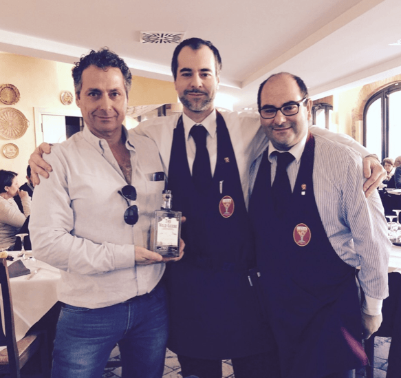 From left: Andre Levy, Chairman of The Wild Geese Company, Giuseppe Vinci, master of spirit and Davide Vinci, master of beer.